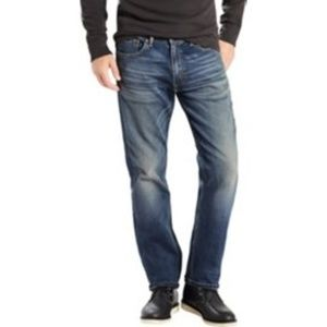 NWT Levi Dark Blue 505 Straight Leg Stretch 38x30
